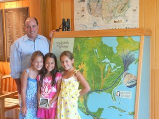 Copy of Tom Baptist with girls who made donation for Gulf Oil Spill Resp 002