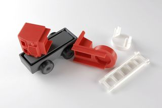 5 - 3d Printed mockup of final fire truck design- parts